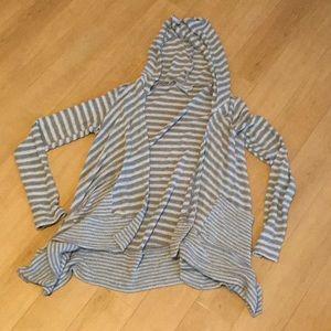 Hooded Stripe Maternity Cardigan